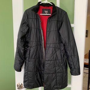Exofficio primaloft Black travel coat S/P, hooded